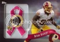2013 Topps Brian Orakpo Pink Ribbon