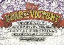 2013 Topps Road to Victory Football
