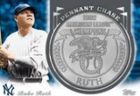 2013 Topps Update Babe Ruth Coin