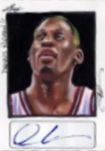 2014 Leaf Best of Basketball Rodman Sketch