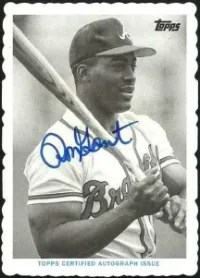 2014 Topps Archives Mini Deckle Ron Gant Autograph #/25