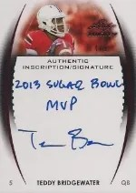 2014 Leaf Trinity Teddy Bridgewater