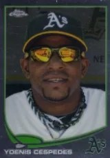 2013 Topps Chrome Variation Yoenis Cespedes