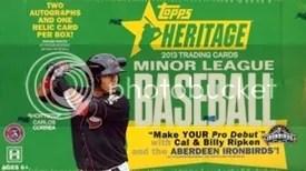 2013 Topps Heritage Minor League Baseball Box