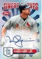 2014 Topps Finest Mark McGwire Auto
