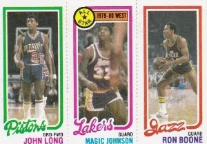 1980-81 Topps John Long - Magic Johnson - Ron Boone Card