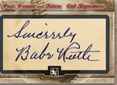 ITG Babe Ruth Cut Signature