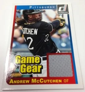 2014 Donruss Game Gear Andrew McCutchen Jersey