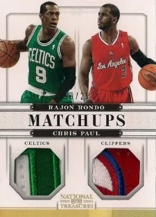 12/13 Panini National Treasures Matchups Chris Paul - Rajon Rondo Prime Jersey