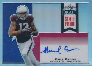 2014 Leaf Metal Draft Mike Evans State Price Auto
