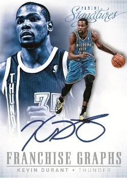 13/14 Panini Signatures Franchise Graphs Kevin Durant