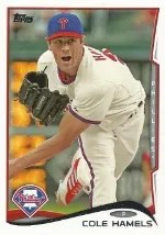 2014 Topps Series 1 Cole Hamels #196