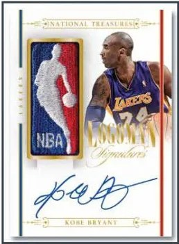2013-14 Panini National Treasures Kobe Bryant Logoman Autograph Card