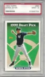1993 Topps Derek Jeter Rookie #98 Graded PSA 9