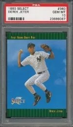 1993 Score Select Derek Jeter Rookie Card #360 Graded PSA 10 Gem Mint