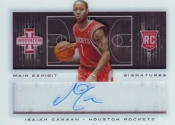 13/14 Panini Innovation Main Exhibit Isaiah Canaan Auto