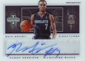 13/14 Panini Innovation Ramon Sessions Main Exhibit Auto