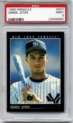1993 Pinnacle Derek Jeter Rookie PSA 9