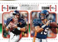 2010 Topps John Elway Tim Tebow Card