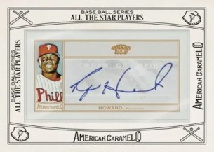 2010 Topps T 206 Ryan Howard American Caramel Autograph