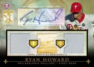 2010 Topps Tribute Ryan Howard Triple Relic Auto