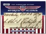 2010 Razor Sports Icons Alexander Cartwright Cut Auto