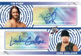 2010 Topps WWE CM Punk Luke Gallows Autograph