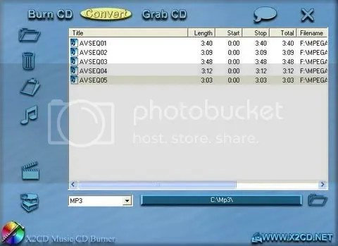 X2CD VCD to MP3 Converter