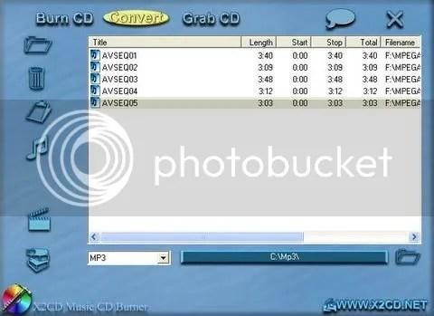 X2CD VCD to MP3 Converter