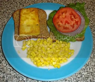 Fried Tofu Sandwich with Corn