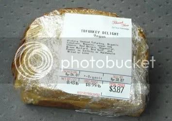 Tofurky Sandwich