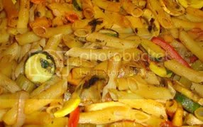 close up view - pasta bake