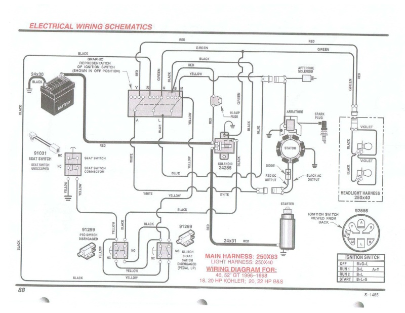 Briggs And Stratton Riding Lawn Mower Wiring Diagram ... on weedeater key switch wiring, boat key switch wiring, kohler key switch wiring, golf cart key switch wiring, small engine key switch wiring,