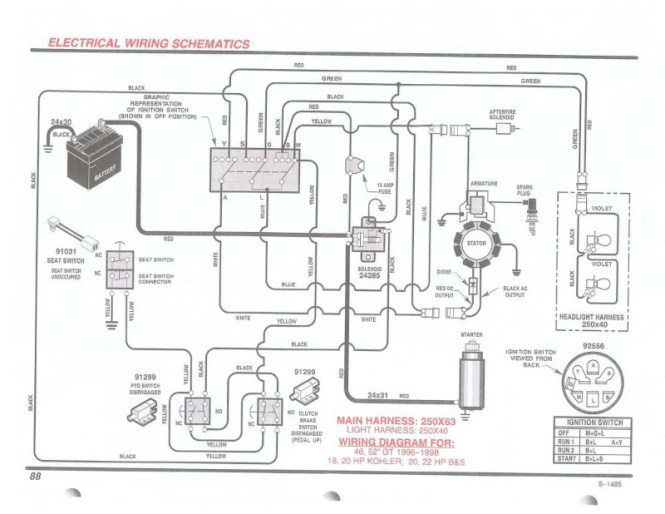 craftsman lawn tractor wiring diagram wiring diagrams wiring diagrams for lawn mowers the diagram