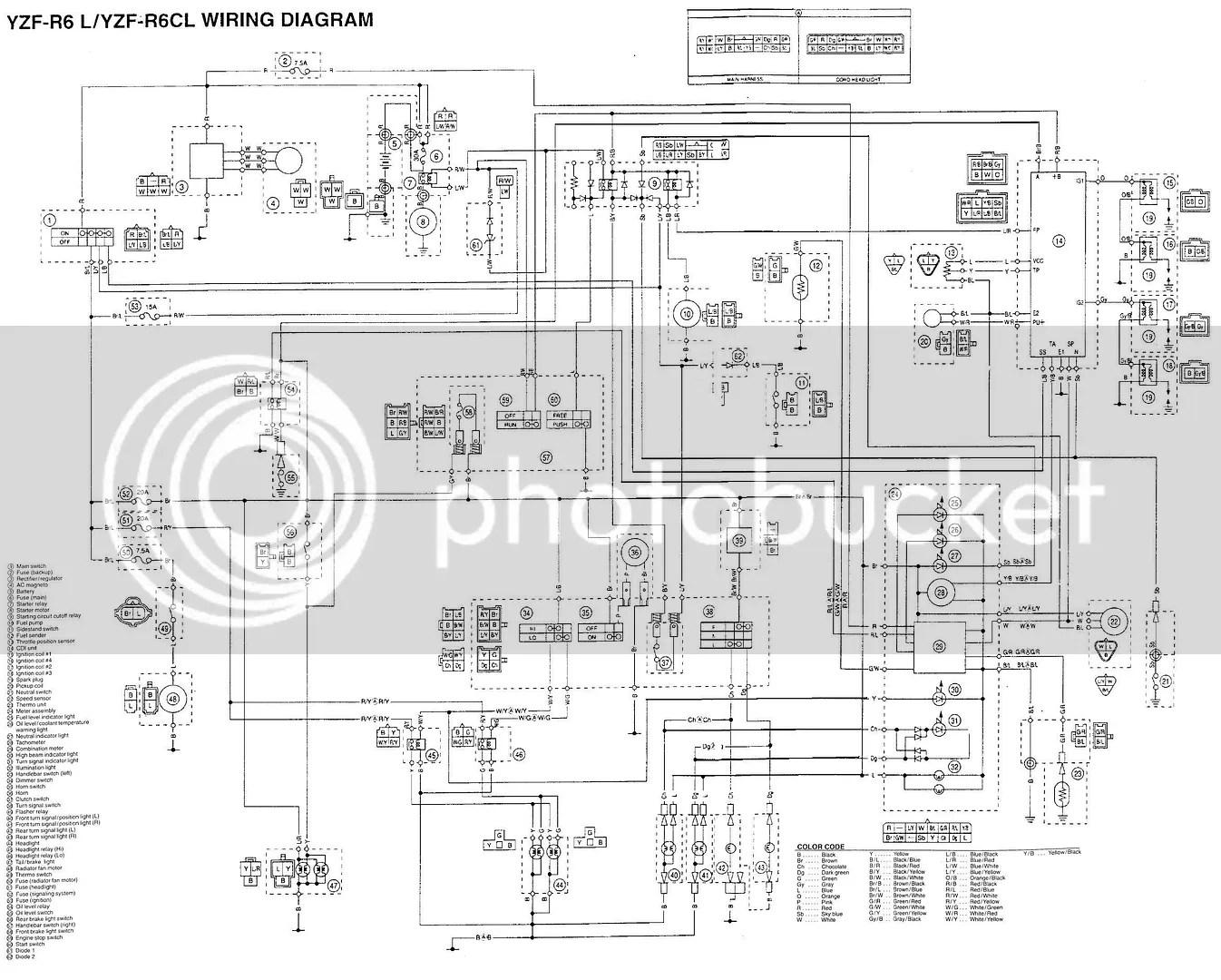 Yamaha R6 Wiring Diagram