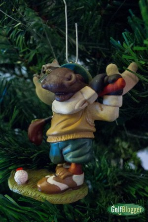 Moose Golf Ornament