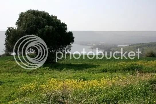Lieblicher Gegend der See Genezareth