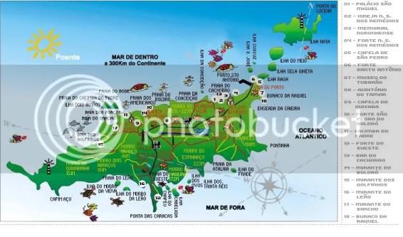 Mapa de Fenando de Noronha