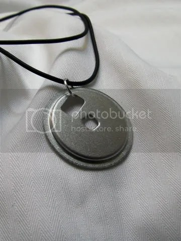 floppy diskette hub necklace