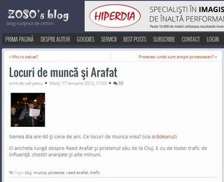 un postac basist scrie mizerii despre Arafat