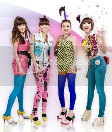From left: Park Bom, CL, Sandara Park, Minji