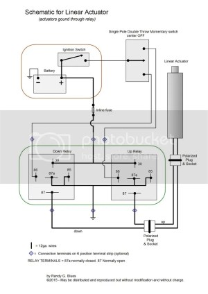 Wiring Diagram for Linear Actuator  MyTractorForum