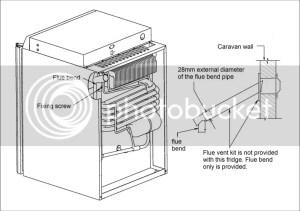 Caravan Motorhome Leisure 3 Way Absorption fridge 43 Litre
