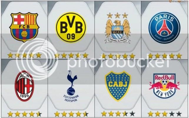 Demo Fifa 14 Times Barcelona, Boca Juniors, Red Bull NY, Manchester City, Tottenham Hotspur, Borussia Dortmund, Milan e Paris Saint-Germain.