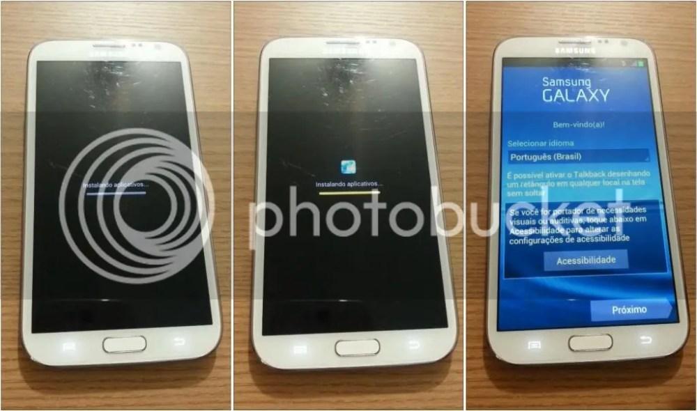 Formatando Galaxy Note II - Passo 08