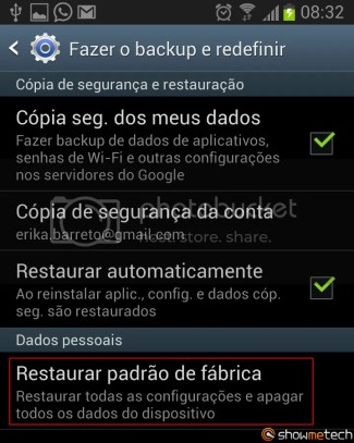 Formatando Galaxy Note II - Passo 03