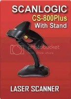 Barcode Scanner Scanlogic CS-800Plus With Stand