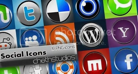 Social networking Icons -knobs