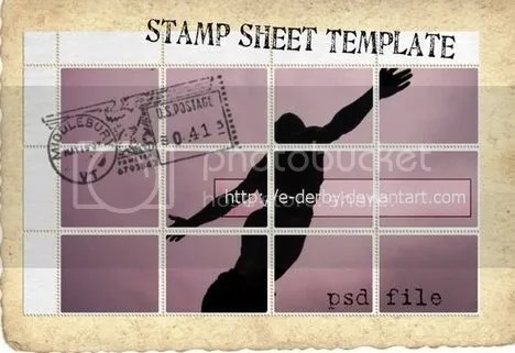 Stamp Sheet Template by e-derby