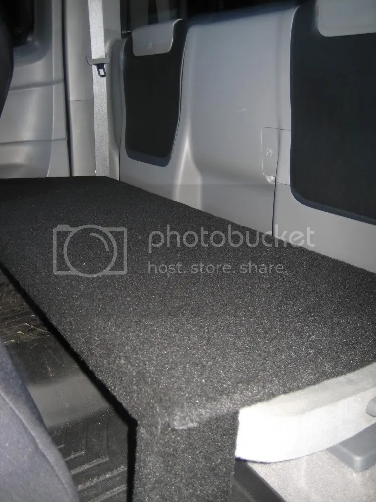 Built A Platform For The Rear Jump Seats Of My Access Cab